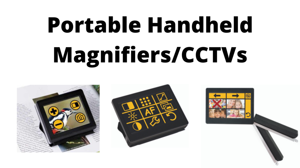 learning about portable handheld magnifiers, MANOtouch CCTVS